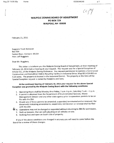 ZBA Letter